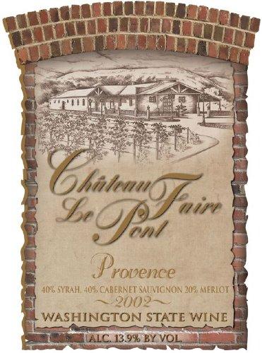 "2002 Chateau Faire Le Pont ""Provence"" Washington State Red Blend 750 Ml"