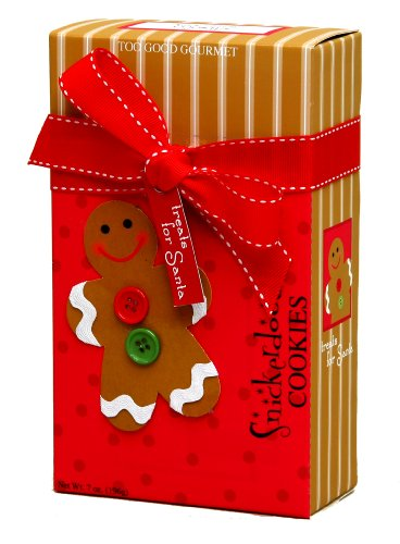Too Good Gourmet Treats for Santa Snickerdoodle Cookies, 7-Ounce Boxes (Pack of 6)