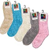 Soft & Warm Microfiber Fuzzy Socks- Multiple Colors- One Size