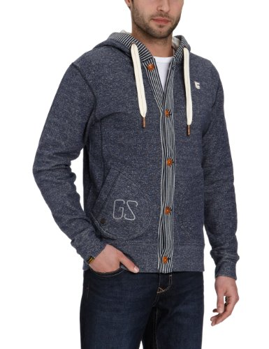 G-Star Men's Hibiki Hooded Sweatshirt, Sapphire Blue Heather, Medium
