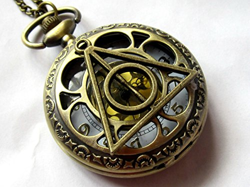 Harry Potter Deathly Hollows Pocket Watch Necklace