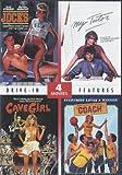 4 Drive-In Features: JOCKS (1986), MY TUTOR (1983), CAVE GIRL (1985) and COACH (1978) - Starring Cathy Lee Crosby, Michael Biehn, Daniel Roebuck, Mariska Hargitay, Kevin McCarthy - (DVD - 2011)