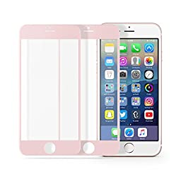 multifun Tempered Glass Screen Protector for Apple iPhone 6s/iPhone 6 4.7 inch 0.2mm Ultra Thin Color Frame 2-Pack Rose Gold