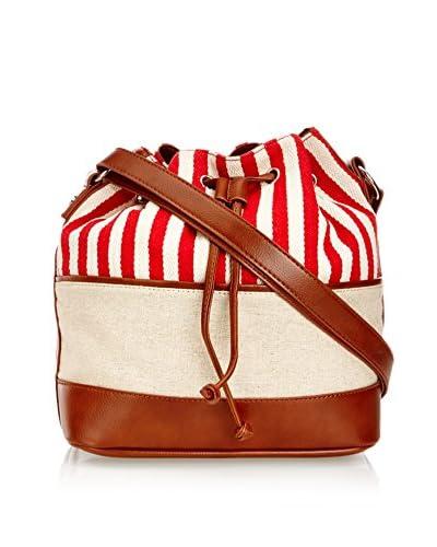 Louche Bags Bolso Cruzado Southampton Crema / Rojo