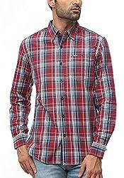 Wrangler Men Cotton CRIMSON Casual Shirt (XX-Large)