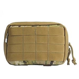 YAKEDA® Tactical MOLLE EMT médicale militaire First Aid Pouch pack médical Insérer et carte Pouch Pour Trauma ou Cas d'utilisation d'une catastrophe naturelle ou de survie en plein air outil Commuter - B88048