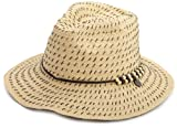 Roxy Juniors Breezy Straw Fashion Hat, Tan, One Size