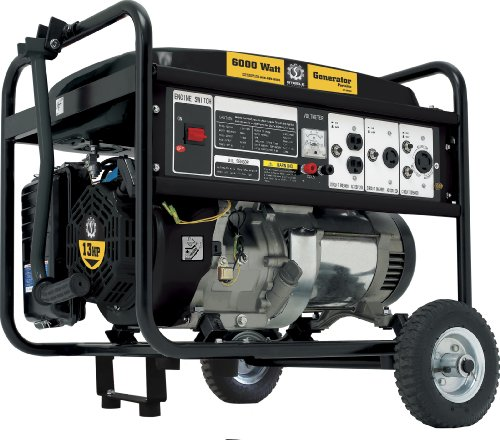 Steele Products Steele Products SP-GG600 6,000 Watt 4-Cycle Gas Powered Portable Generator With Wheel Kit
