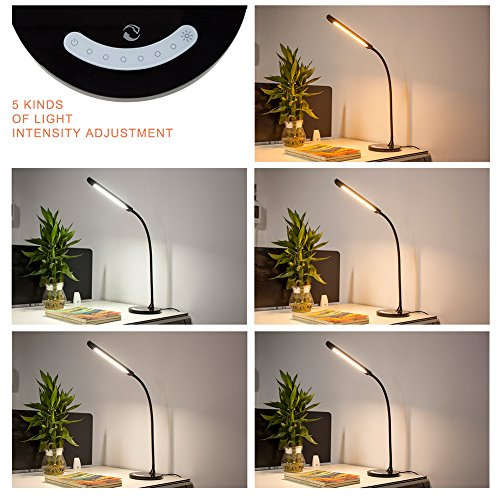Kedsum Dimmable Led Desk Lamp Gooseneck Table Lamp