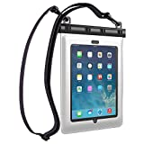 Ultraproof Waterproof Case for iPad Air and iPad 2 3 4 – [White] Universal UltraBag Waterproof Pouch with Touch Responsive Front and Back Transparent Screen Protector Windows [One Year Warranty] Fits Any Version of Apple iPad Air 4 3 2 1 (A.K.A IPX8 Certified Premium Protective Smartphone Waterproof Life Pouch / Credit Card Waterproof Bag Case Cover)