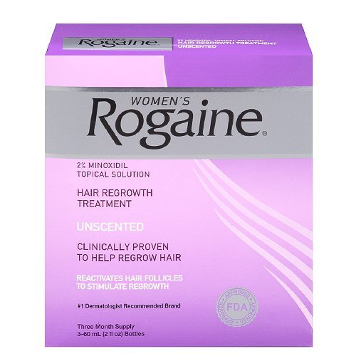 Women'S Rogaine Hair Regrowth Treatment, Unscented 3 Month Supply