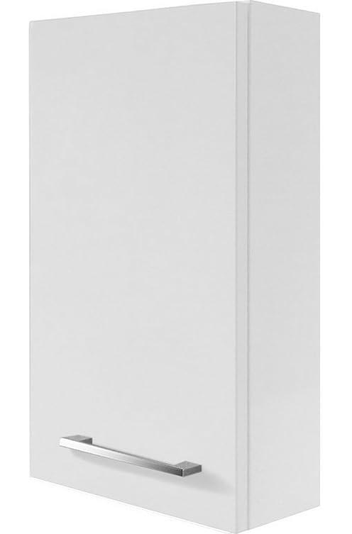 Fackelmann Rondo pensile, destra, colore: bianco lucido/bianco lucido/mobili da bagno