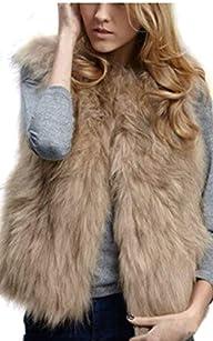 Eshion Lady Faux Fur Vest Waistcoat S…
