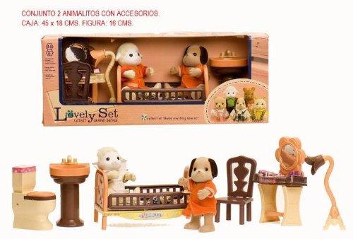 Imagen 1 de CONJUNTO 2 ANIMALITOS FLOCADOS C/ACCES.
