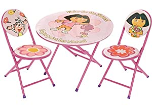 Nickelodeon Dora the Explorer 3-Piece Round Table and Chair Set from Nickelodeon