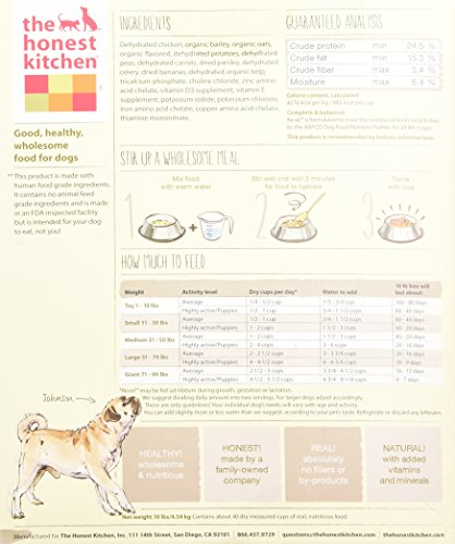 The Honest Kitchen Revel Chicken and Whole Grain Dog Food, 10-Pound_Image3
