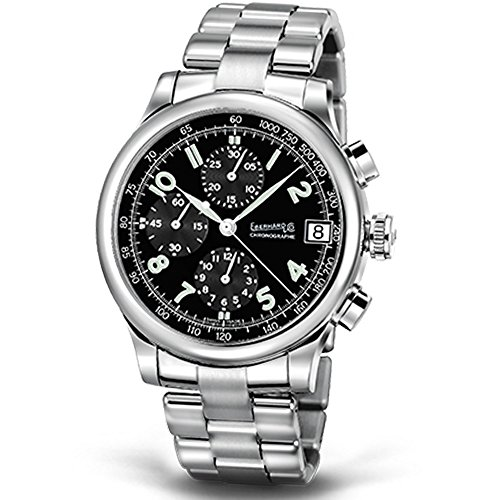 Eberhard & Co. Traverse Tolo Chrono Reloj Reloj de pulsera automático y caja de acero inoxidable Pulsera