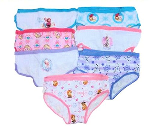 Disney Frozen Girls Hipster Panties 7 Pack (4)