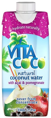 Vita Coco 100% Natural Coconut Water with Acai and Pomegranate 330 ml (Pack of 12)