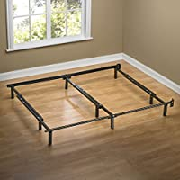 Zinus Compack Adjustable Steel Bed Frame, Fits Full to King