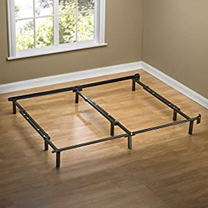 Zinus Compack Adjustable Steel Bed Frame, Fits Full to King
