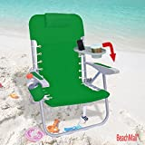 Heavy Duty Backpack Beach Chair by Rio with Removable Side Tray