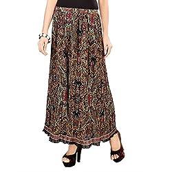 SFDS Women's Black Polyester Skirt