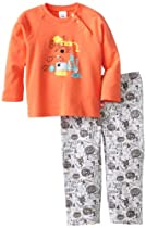 Zutano Baby Boys Chemistry Applique Shirt and Pant Set, Multi, 18 Months