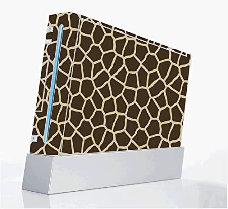 Giraffe Animal Print Decorative Protector Skin Decal Sticker for Nintendo Wii Console