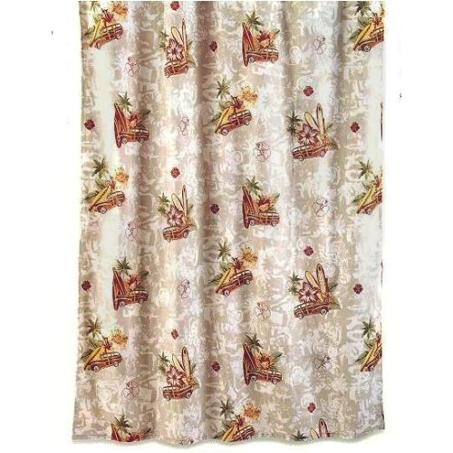 Surf Themed Shower Curtain Nautical Shower Curtains