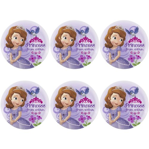 Zak Designs Disney's Sofia The First Melamine Plate, 8-Inch, Set of 6