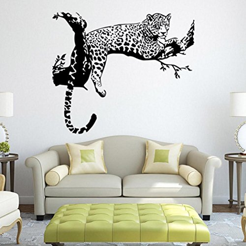 Oksale® Black Leopard DIY Vinyl Wall Stickers Papers Decor Decal Removable Bedroom Living Room Home Applique Mural