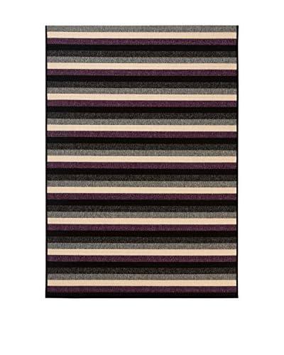 Tapis a Porter Alfombra Veranda Negro/Morado/Multicolor 120 x 170 cm
