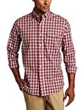 U.S. Polo Assn. Men's Plaid Woven Shirt, Engine Red, Small