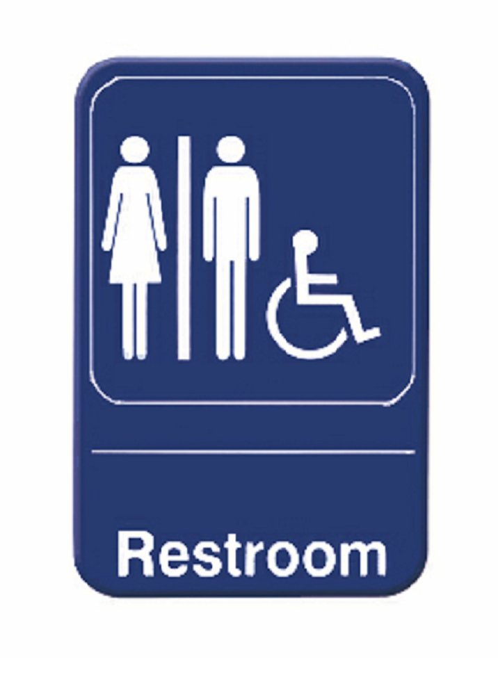 Restroom Sign Door Signs Men Women Bathroom Tplis6903bl 2 Ebay