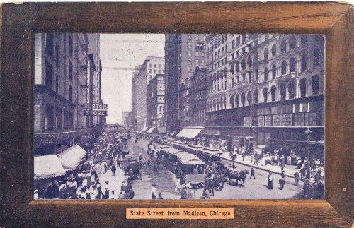 1909 Vintage Postcard Boston Store State Street