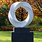 Large Garden Sculptures - Modern Halo Abstract Statue