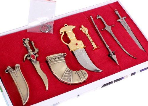 マギ Magi  アリババ  ウーゴ  ジュダル 笛 剣 武器 6点セット  コスプレ道具  Ruleronline