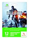Carte Abonnement Xbox Live Gold 12 mo...