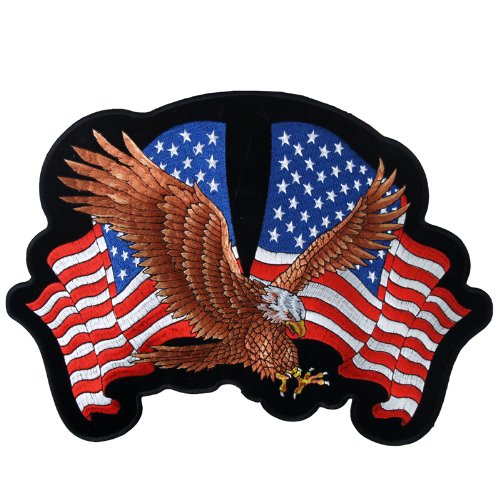 Hot Leathers Eagle 2 Flags Patch (12