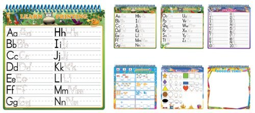Dry Erase Activity Book Makes Learning Fun - Board Dudes Wire Bound Dry Erase Activity Book - Letters, Numbers, Shapes & Games (11050VA-4)