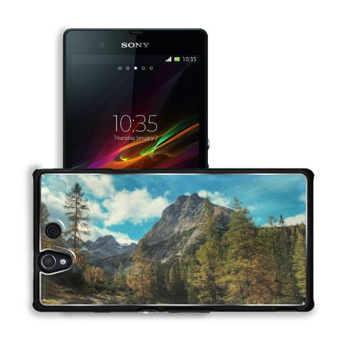 Green Blue Mountains Clouds Landscapes (2) Sony Xperia Z 5.0 C6603 C6602 Snap Cover Premium Aluminium Design Back Plate Case Customized Made To Order Support Ready 5 4/8 Inch (140Mm) X 2 7/8 Inch (73Mm) X 7/16 Inch (11Mm) Msd Sony Xperia Z Cover Professio