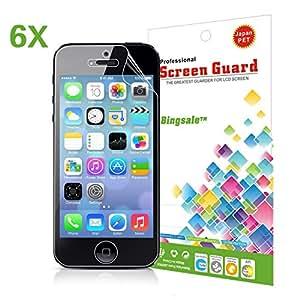 Film d écran iPhone 5s 5C 5,Bingsale Pack de 6 Films de Protection d'écran pour Apple Iphone 5S 5C 5