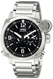 Oris Men's 690 7615 4164 MB BC4 Flight Timer Analog Display Automatic Self Wind Silver Watch