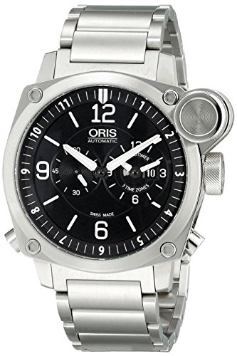 Oris-Mens-690-7615-4164-MB-BC4-Flight-Timer-Analog-Display-Automatic-Self-Wind-Silver-Watch