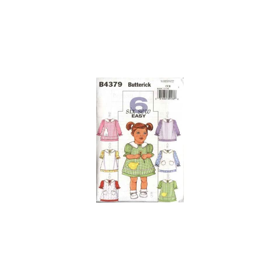 Butterick 4379 Sewing Pattern Baby Girl Infant Dress Pinafore Size 1, 2, 3, 4