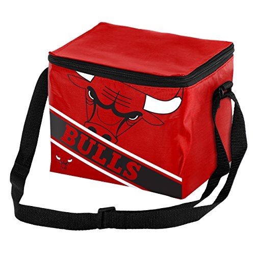 Chicago Bulls Official NBA Cooler 6 Pack Ice Box Bag by Forever Collectibles 052012 (Chicago Bulls Display Case compare prices)