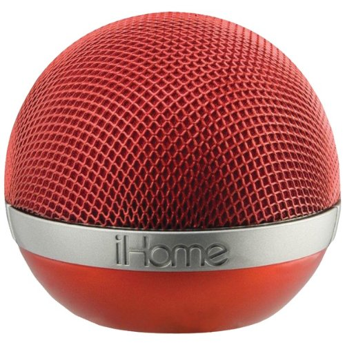 Ihome Idm8Ryc Portable Rechargeable Bluetooth(R) Speaker (Red)