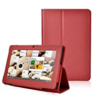 Eforstore Slim Fit Folio Stand Leather Case Cover for Q88 7 Inch Android Tablet Pc (Red) by Eforstore