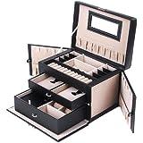 Songmics Boîte à bijoux Mallette/ coffrets/ boîte à maquillage, bijoux et cosmétique JBC121B